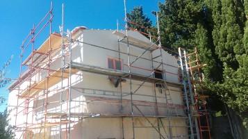 Extension en ossature bois et isolation