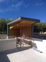 Construction d'une maison en pierre de Luget sur Grans