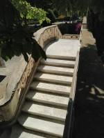 Restauration de l'escalier extérieur en Marbre de la Villa Marie (Médiathèque de Frejus)