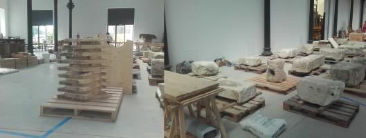 Recherche sur la création en pierre de récupération avec les ateliers Luma