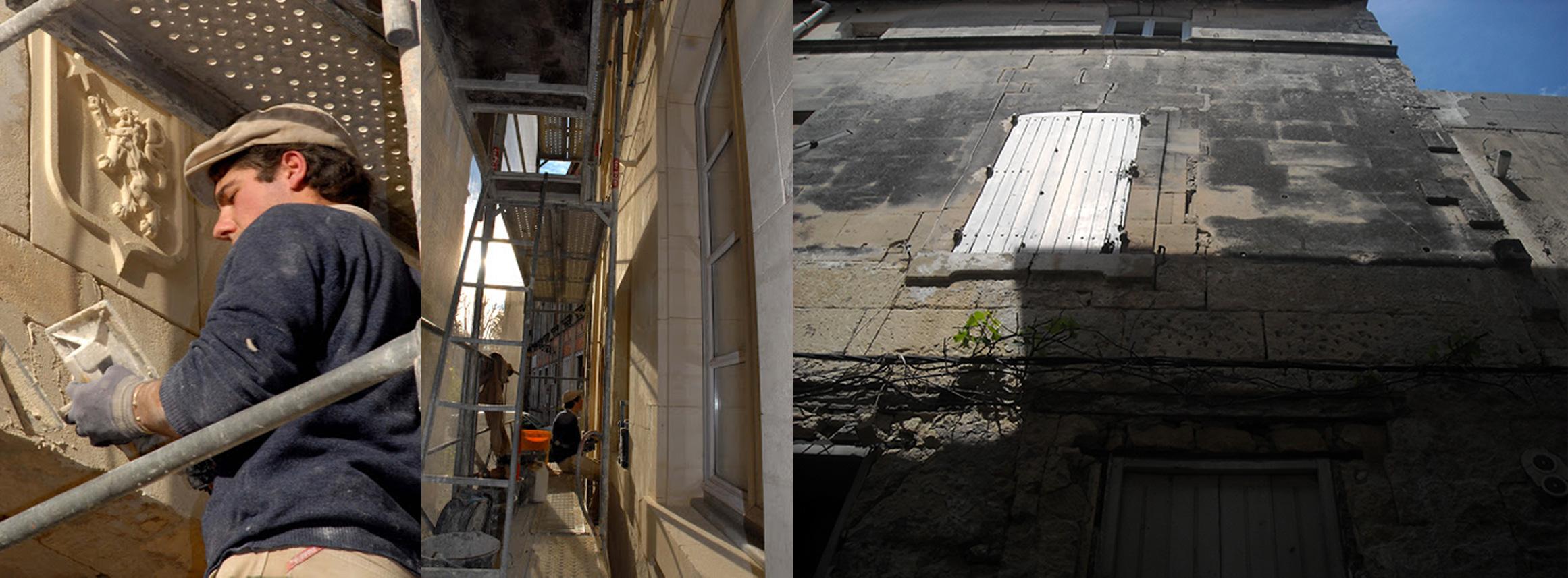 Rénovation d'une façade