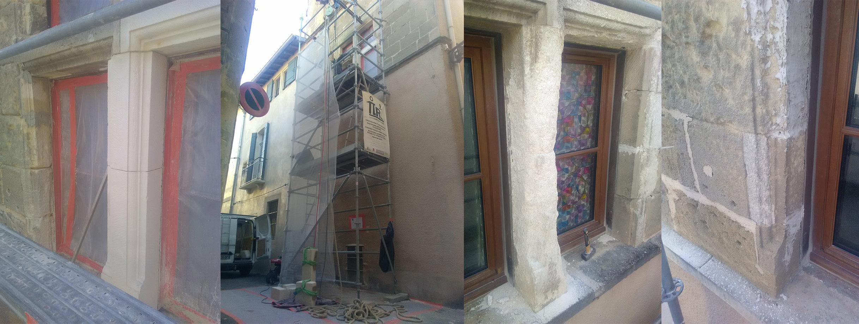 Restauration d'une fenêtre à meneau