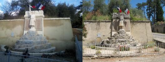 Restauration du monument aux morts de 14-18 d'Ansouis