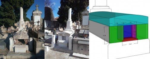 Restauration d'un monument funéraire en marbre